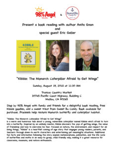 children book reading of kibble the monarch caterpillar afraid to get wings with anita gnan in malibu